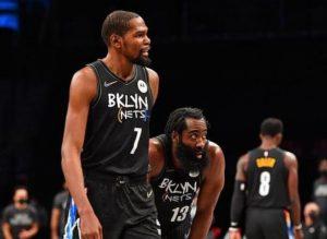 【NBA】东西部五大巨星混战,篮网力克快船,哈登三双成大赢家!